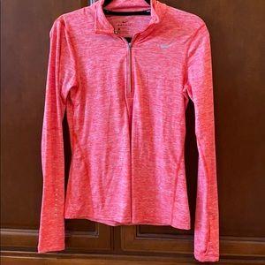 Quarter zip Nike running shirt